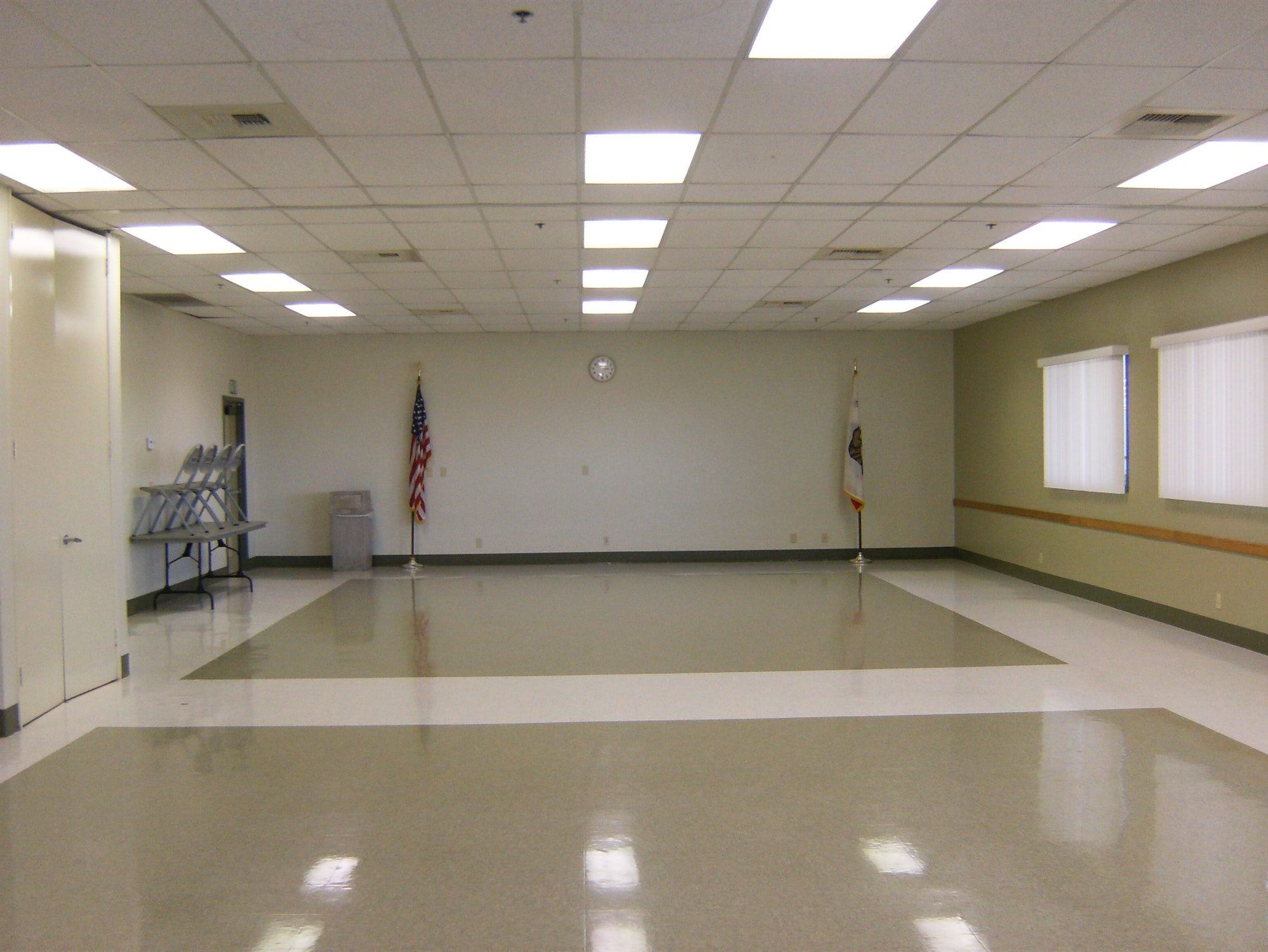 Empty Assembly room at the Rick Novack Community Center