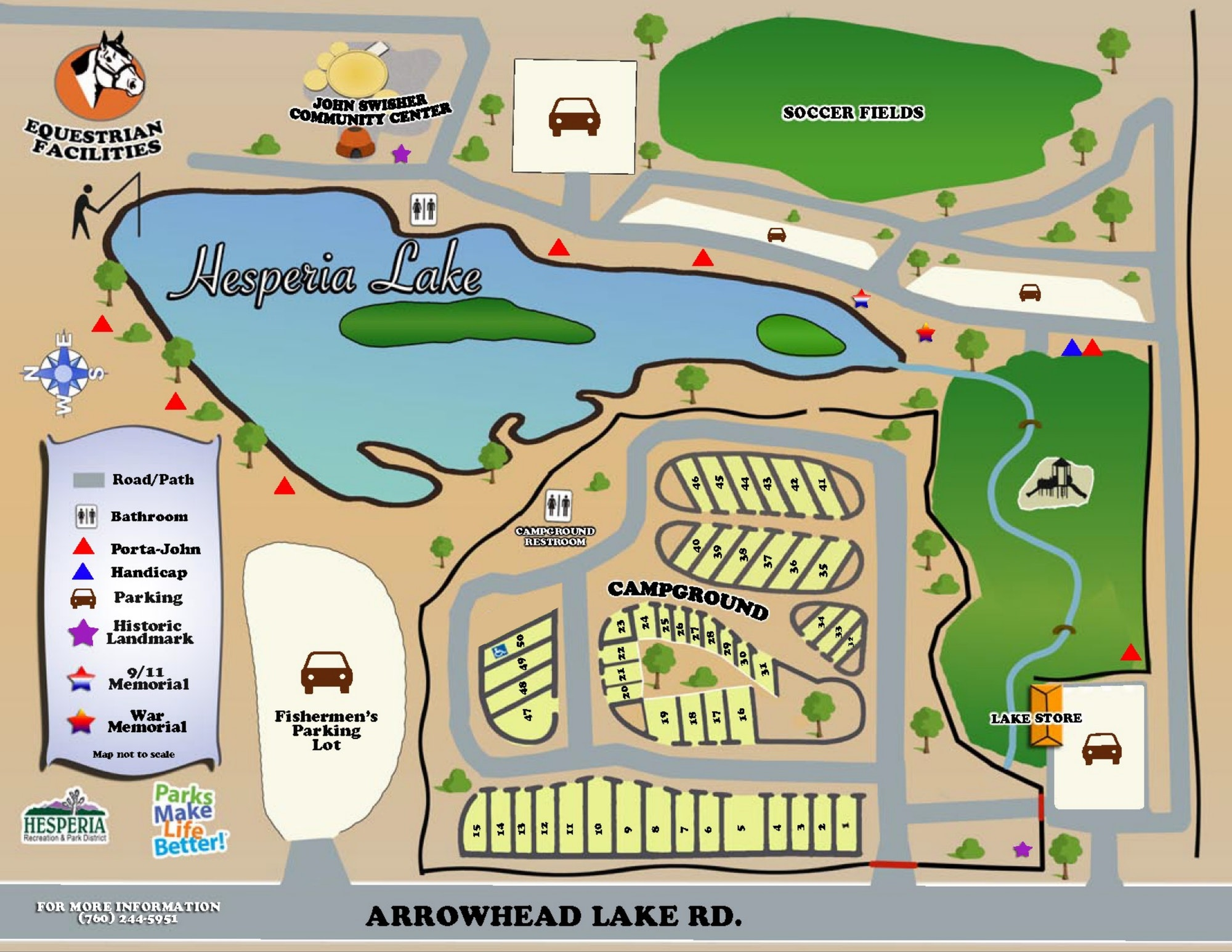 Map of Hesperia Lake Park