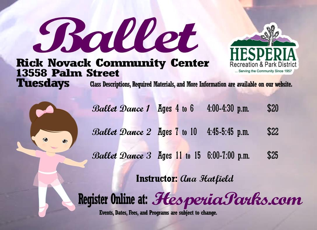Dance - Hesperia Recreation and Park District