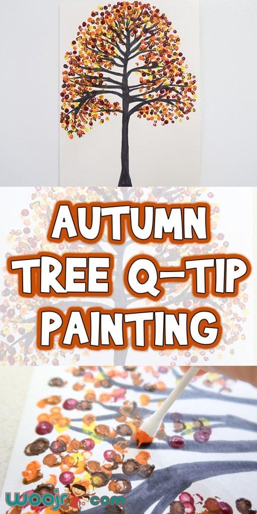 Autumn Tree Q-Tip Painting