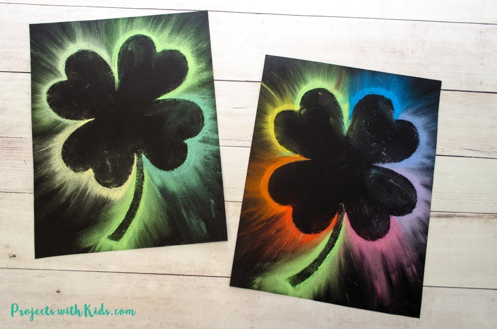 Shamrock chalk art