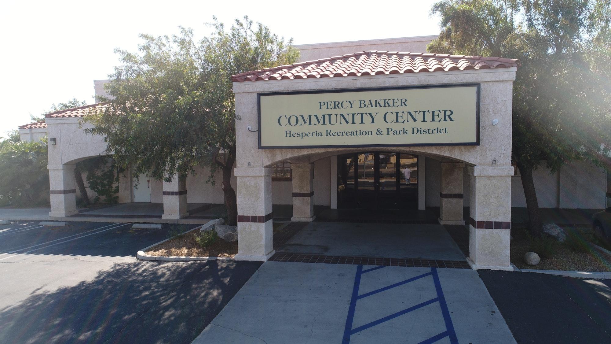 Percy Bakker Community Center front enterance