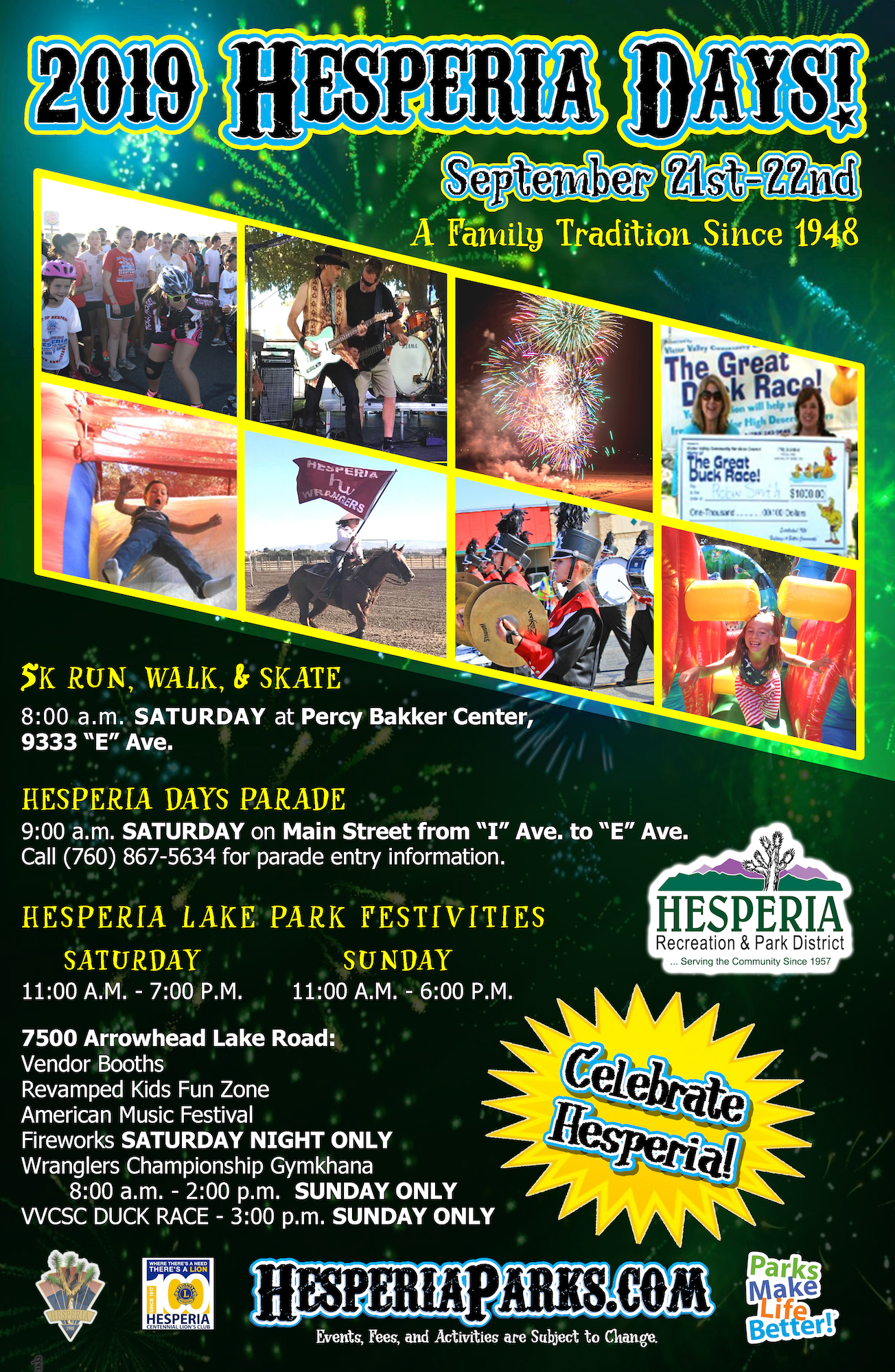Calendar of Events - Hesperia Recreation and Park District