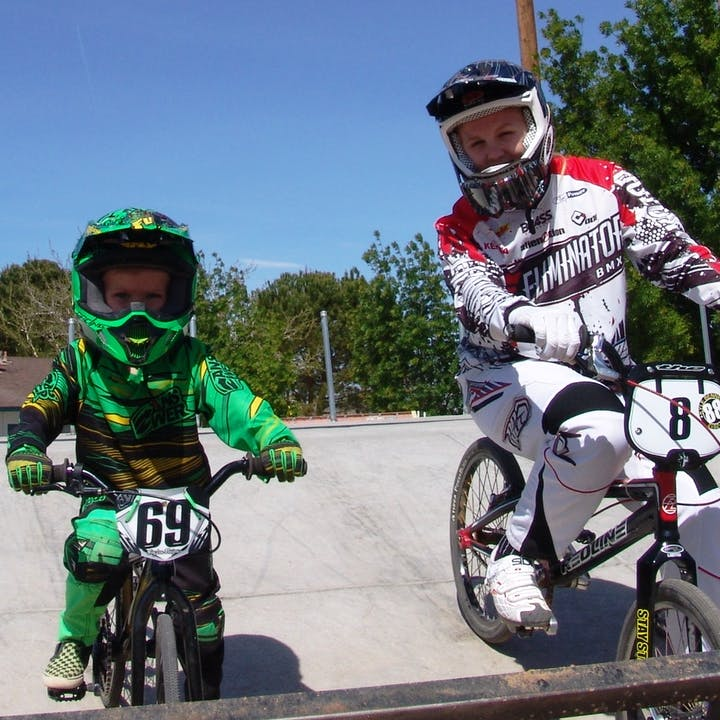 Two Hesperia BMX riders