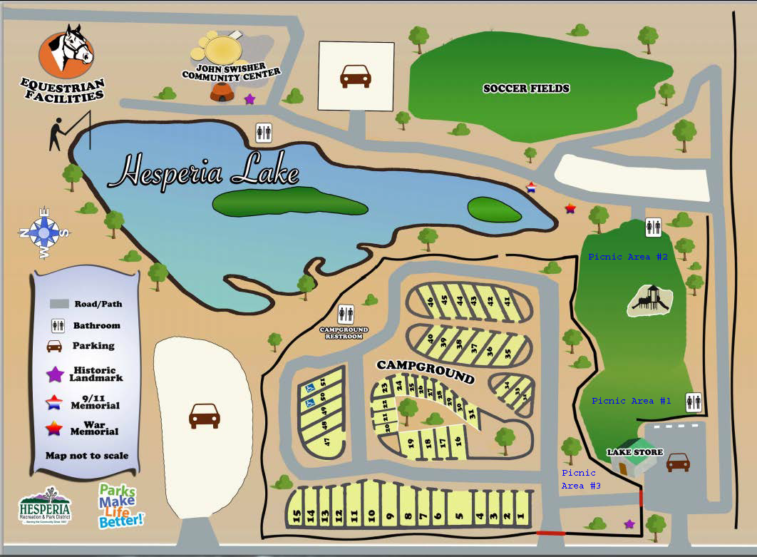Campgrounds In California Map.Hesperia Lake Park Hesperia Recreation And Park District