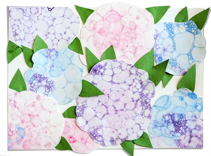Bubble Paint Flowers