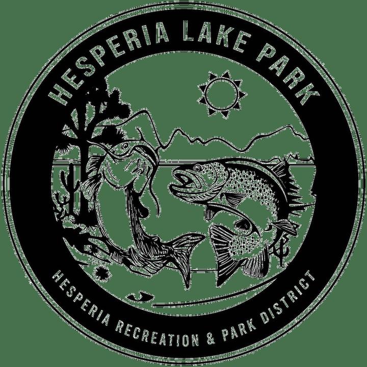 Hesperia Lake Park logo; Trout and Catfish cartoon, Hesperia Recreation and Park District