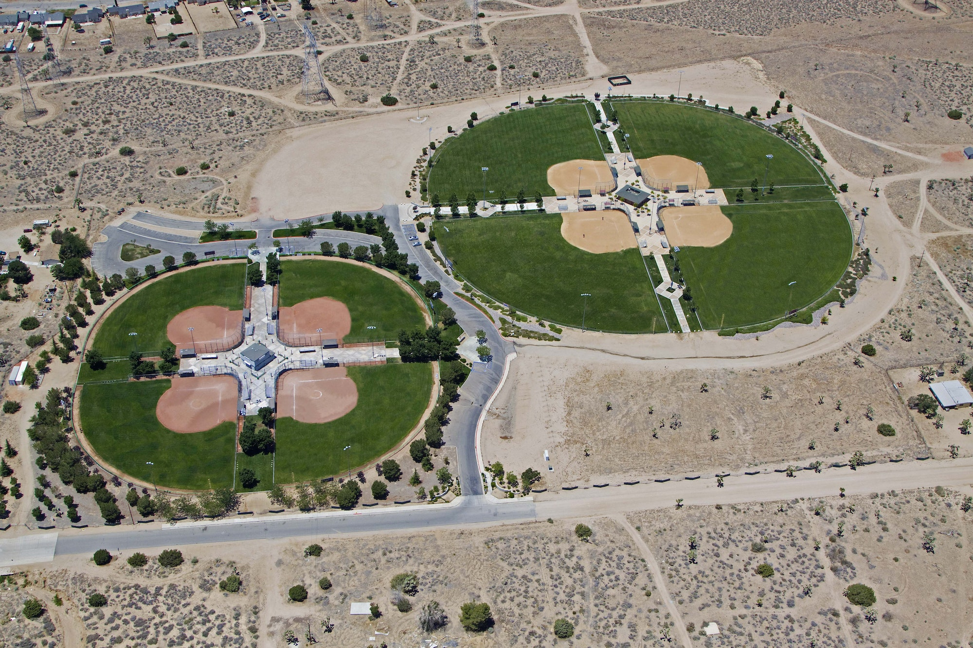 Birds eye view of entire Hesperia Community Park