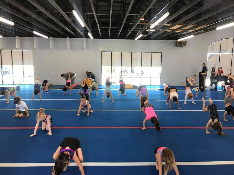 J Cruz Gymnastics class in session