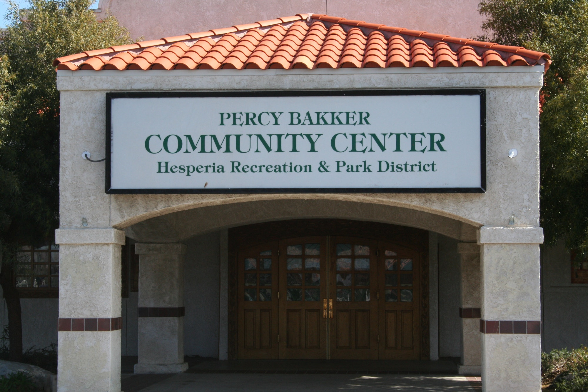 Percy Bakker Community Center front enterance