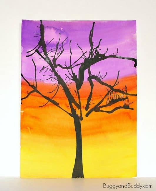 Straw Blow Art Tree