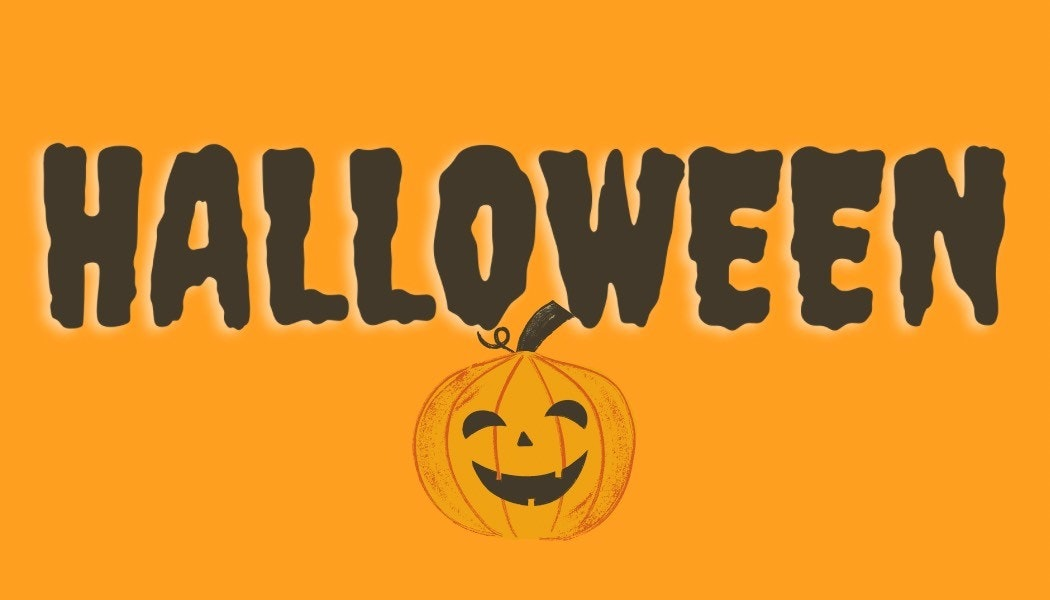 Halloween banner with jack o'lantern