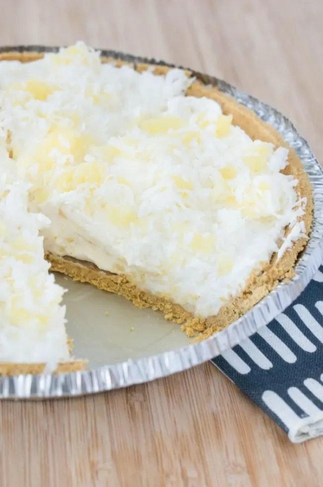 NO-Bake Pineapple Cream Pie