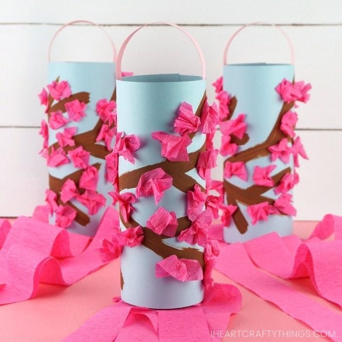 Cherry Blossom Windsock craft