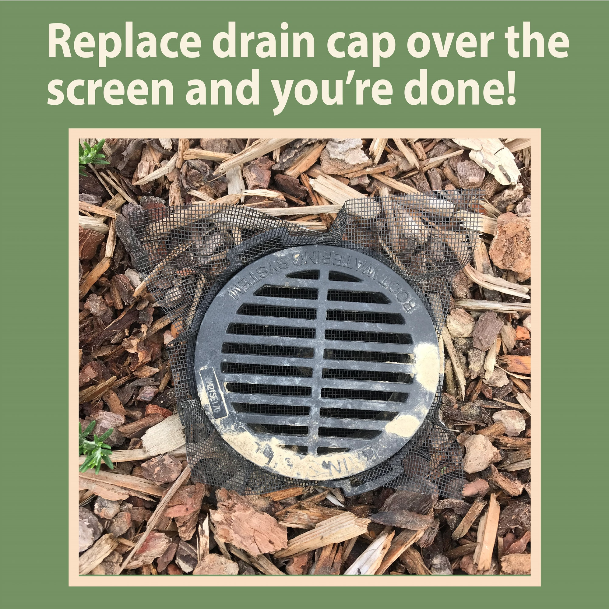 tips to screen yard drain