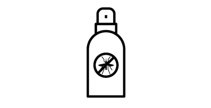 icon of mosquito repellent bottle