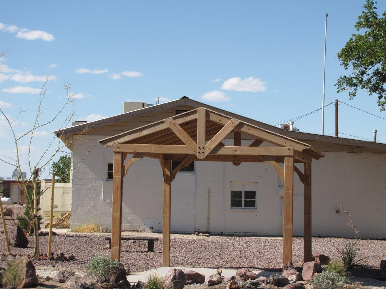 May contain: porch, patio, and pergola