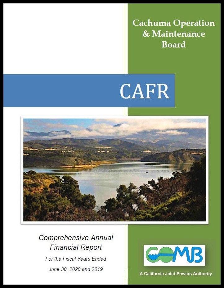 COMB Comprehensive Annual Financial Report FY 2019-20