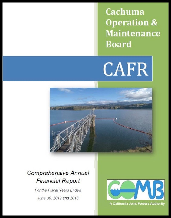 COMB Comprehensive Operation and Maintenance Board Cover Page