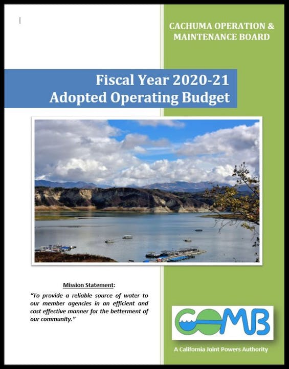 Fiscal Year 2020-21 Adopted Budget