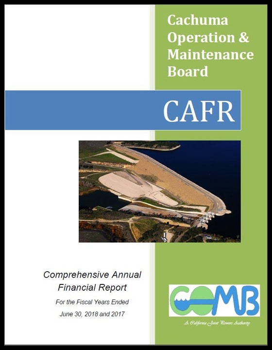 Image of COMB Comprehensive Annual Financial Report (CAFR) cover page