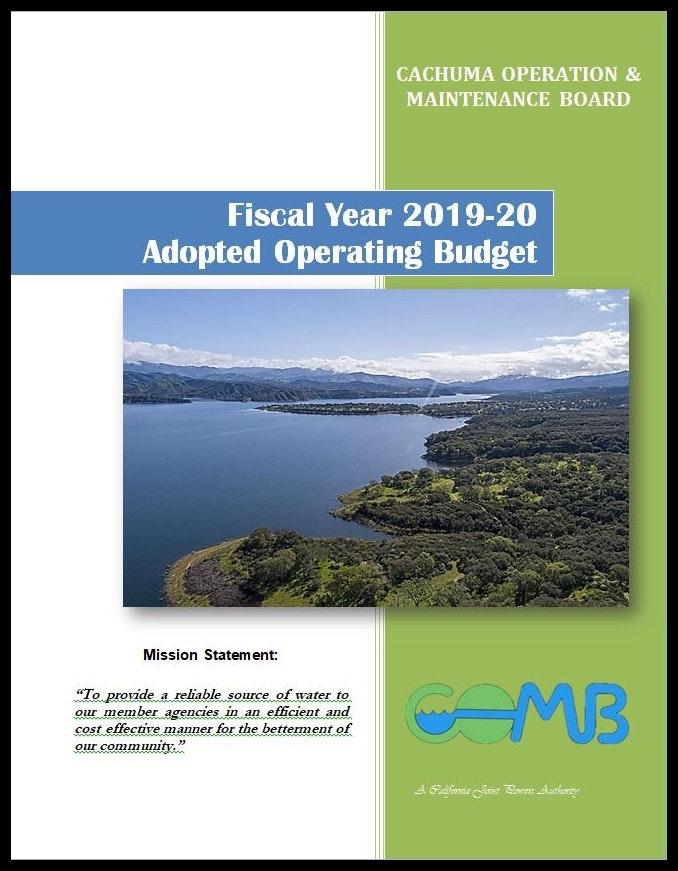 COMB Budget FY 2019-20