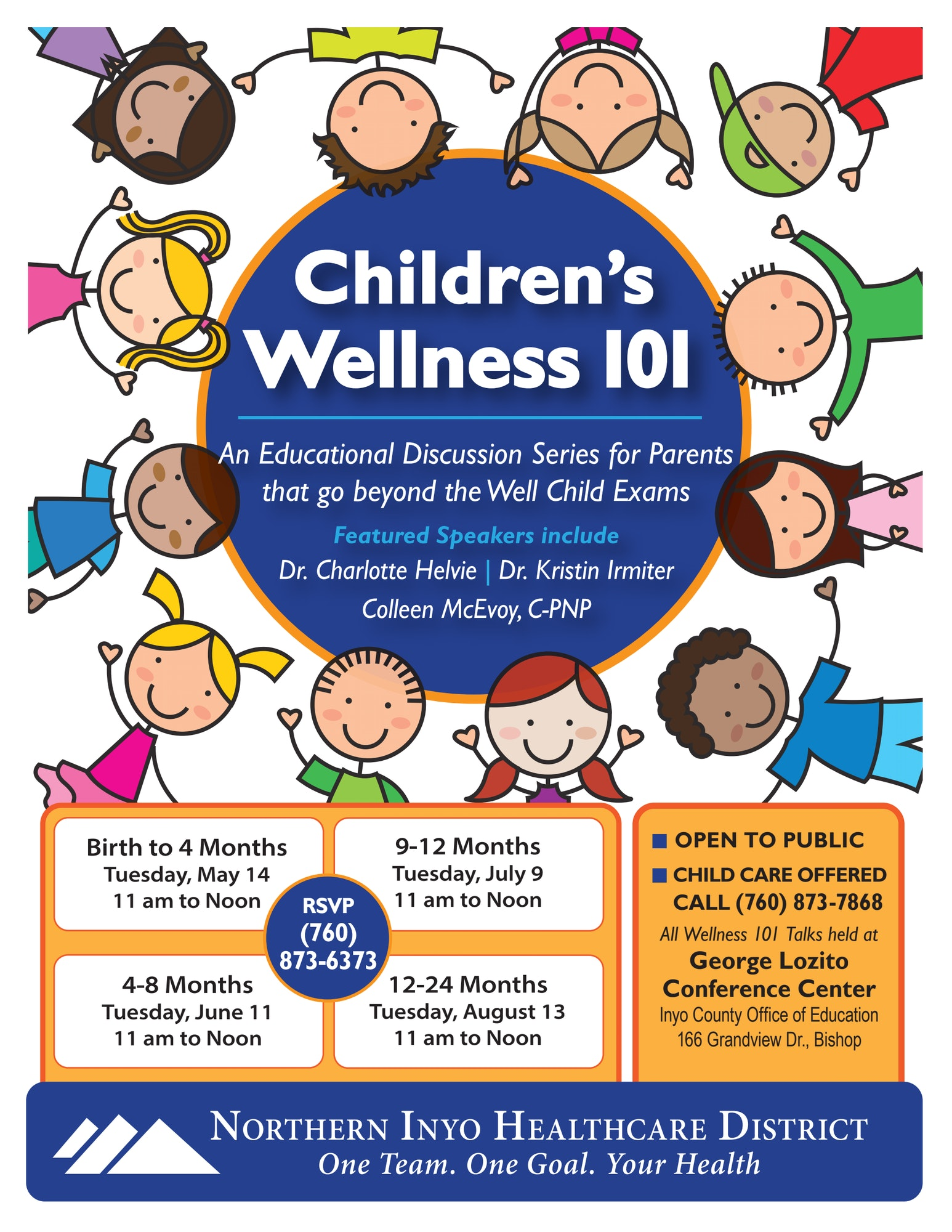 Poster for Children's Wellness 101 Discussion Series