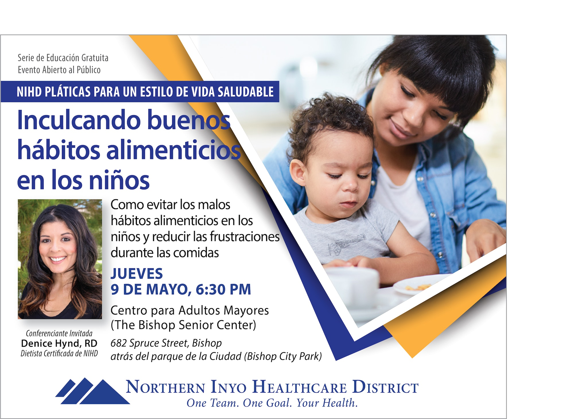 Poster for Spanish Healthy Lifestyle Talk on May 9