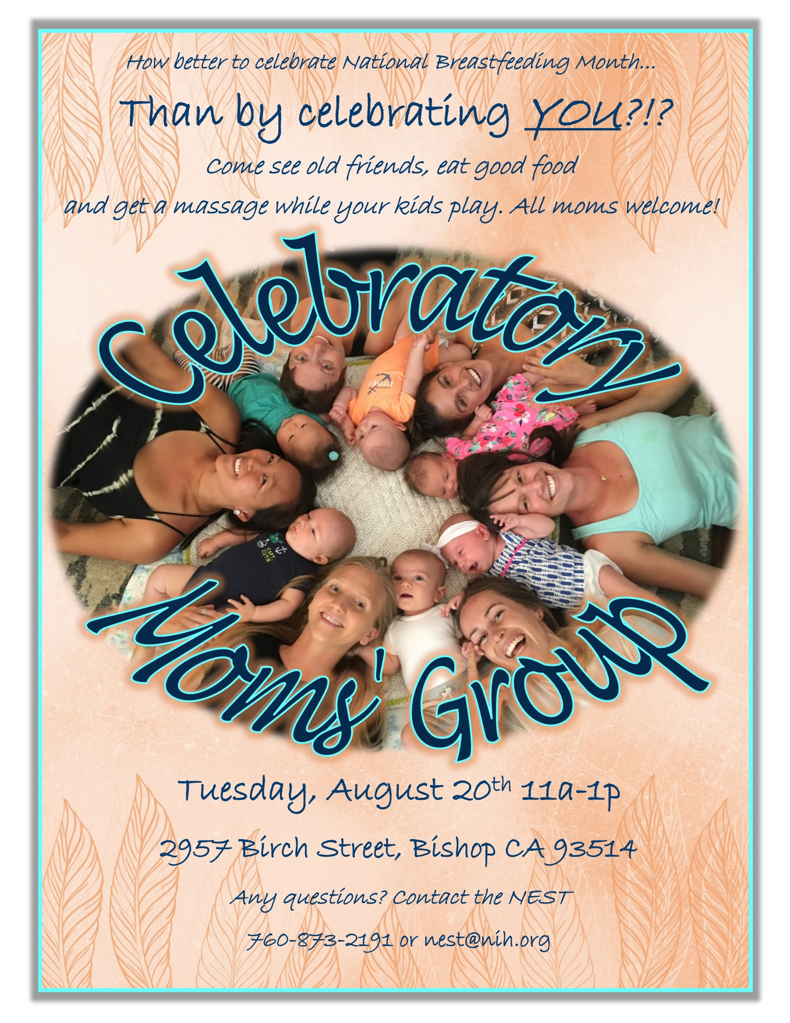 Poster for Celebratory Moms Group event