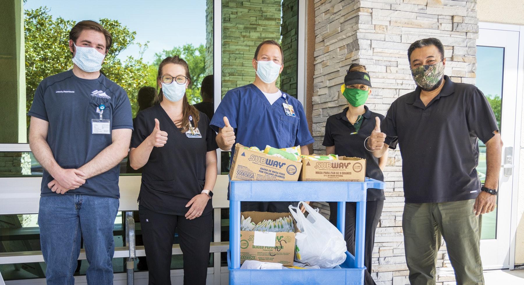 Subway restaurant shows appreciation for NIHD staff