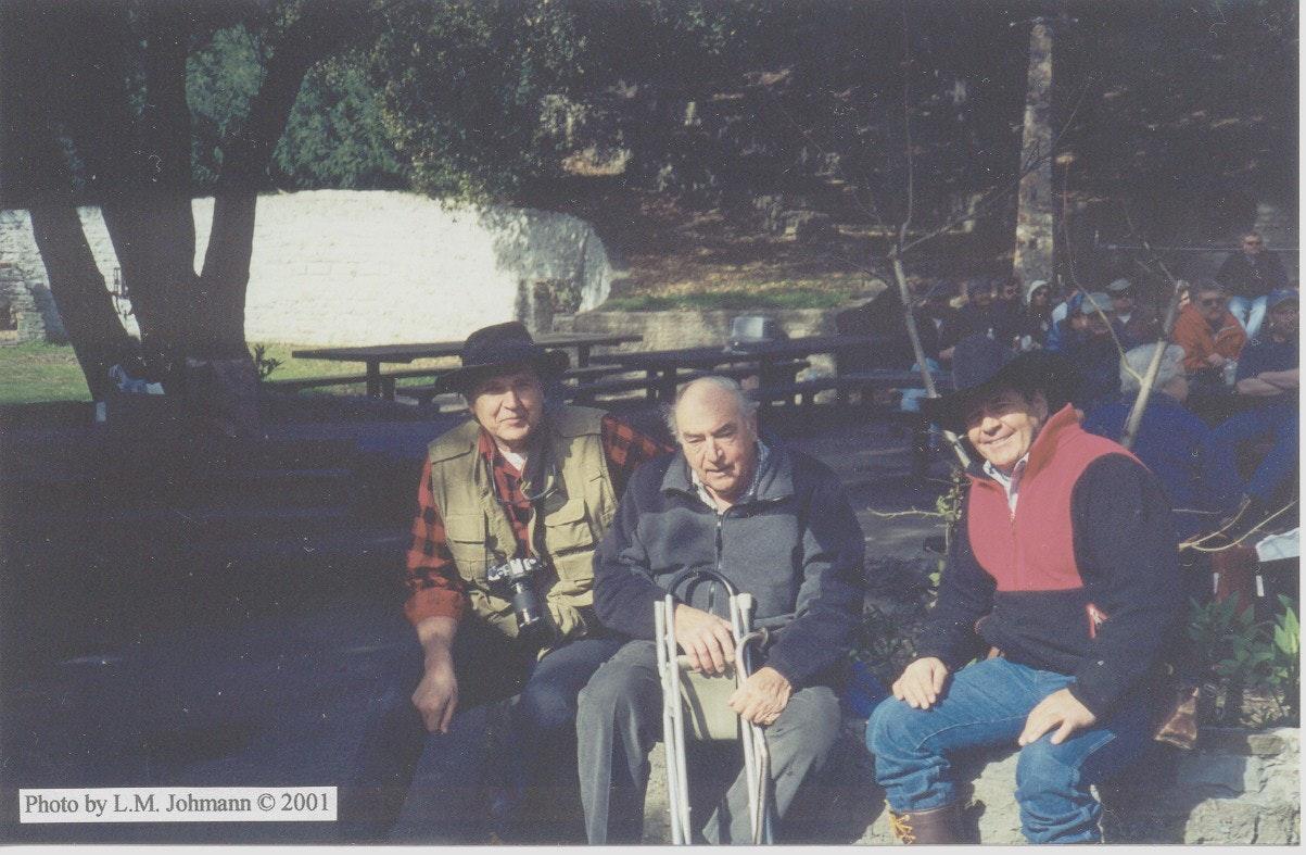 Photo of Larry Johmann, Dr. Luna Leopold and Dr. Dave Rosgen at Wildcat Creek.