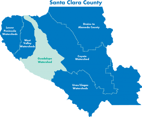 Map of South Bay watersheds