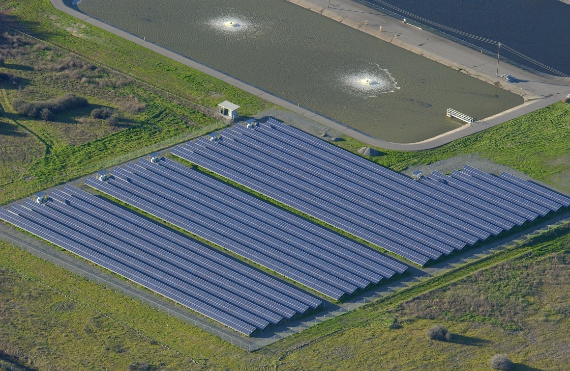 Solar panels, solar field