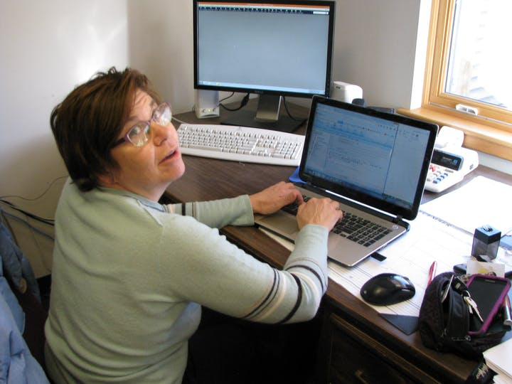 Kathy hard at work, why are you interrupting me?