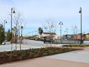 New multimodal Salinas Rail Station with connections for walking, biking, Monterey-Salinas Transit and intercity bus services