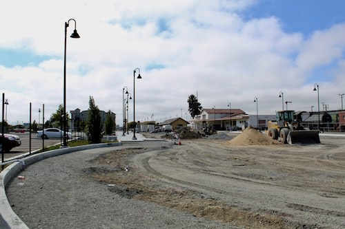 The new Station Place roadway taking shape: 8/6/2020