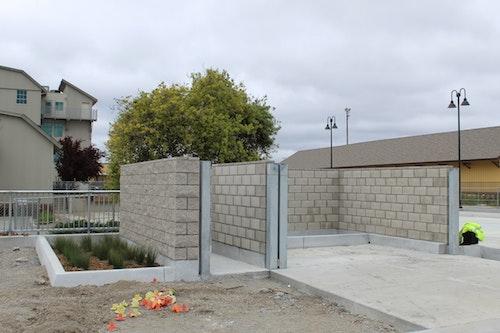 Construction of trash enclosure; 04/16/20