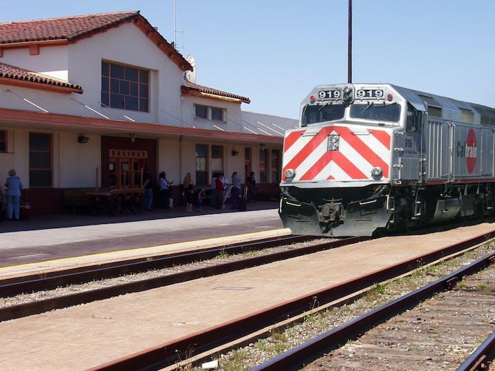 May contain: transportation, train track, rail, railway, train, vehicle, person, human, and locomotive