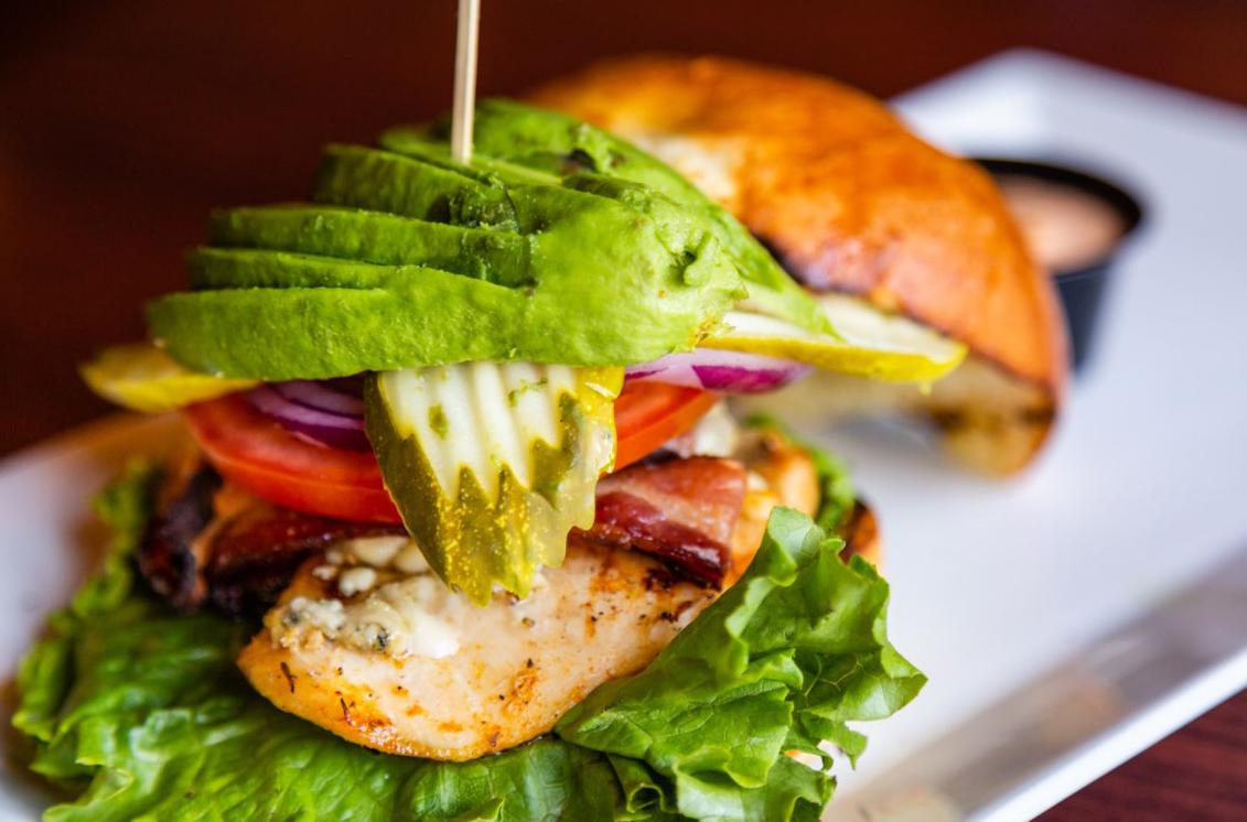 May contain: burger and food