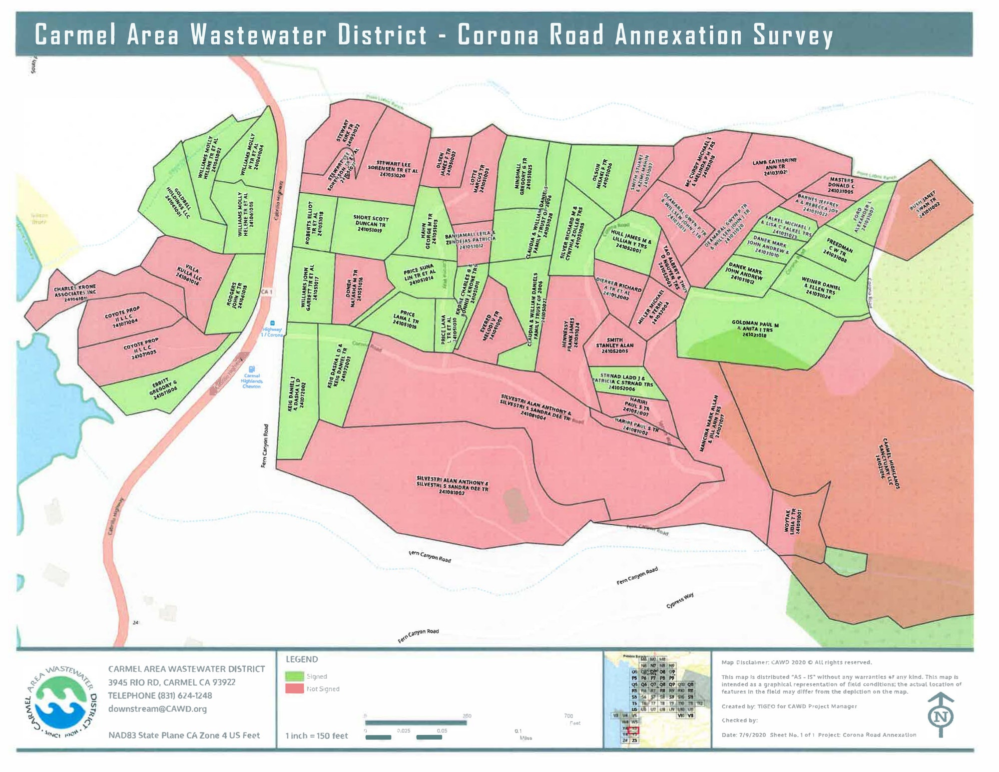 Corona Road Annexation Survey Map