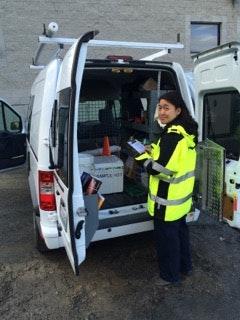 May contain: human, person, vehicle, van, transportation, ambulance, and truck