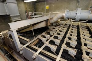 Belt press-to process biosolids and remove excess water