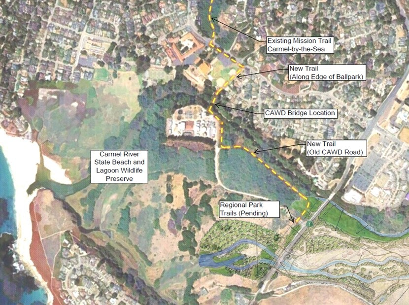 Map of proposed trail