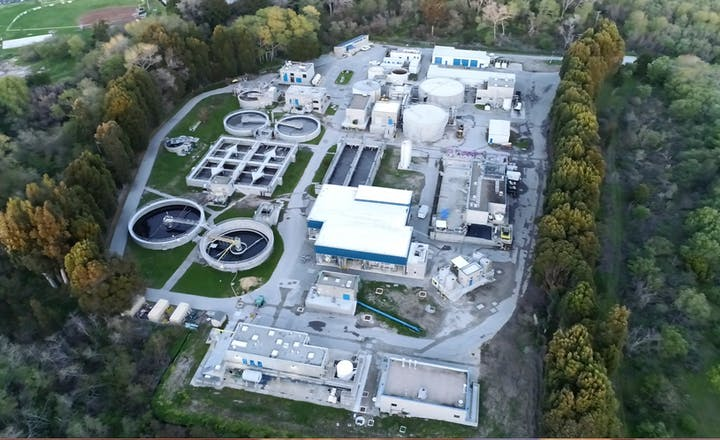 Aerial View of Treatment Plant