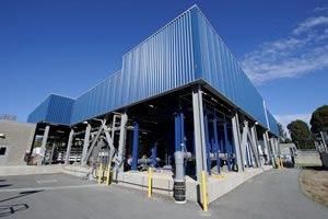 May contain: building and hangar