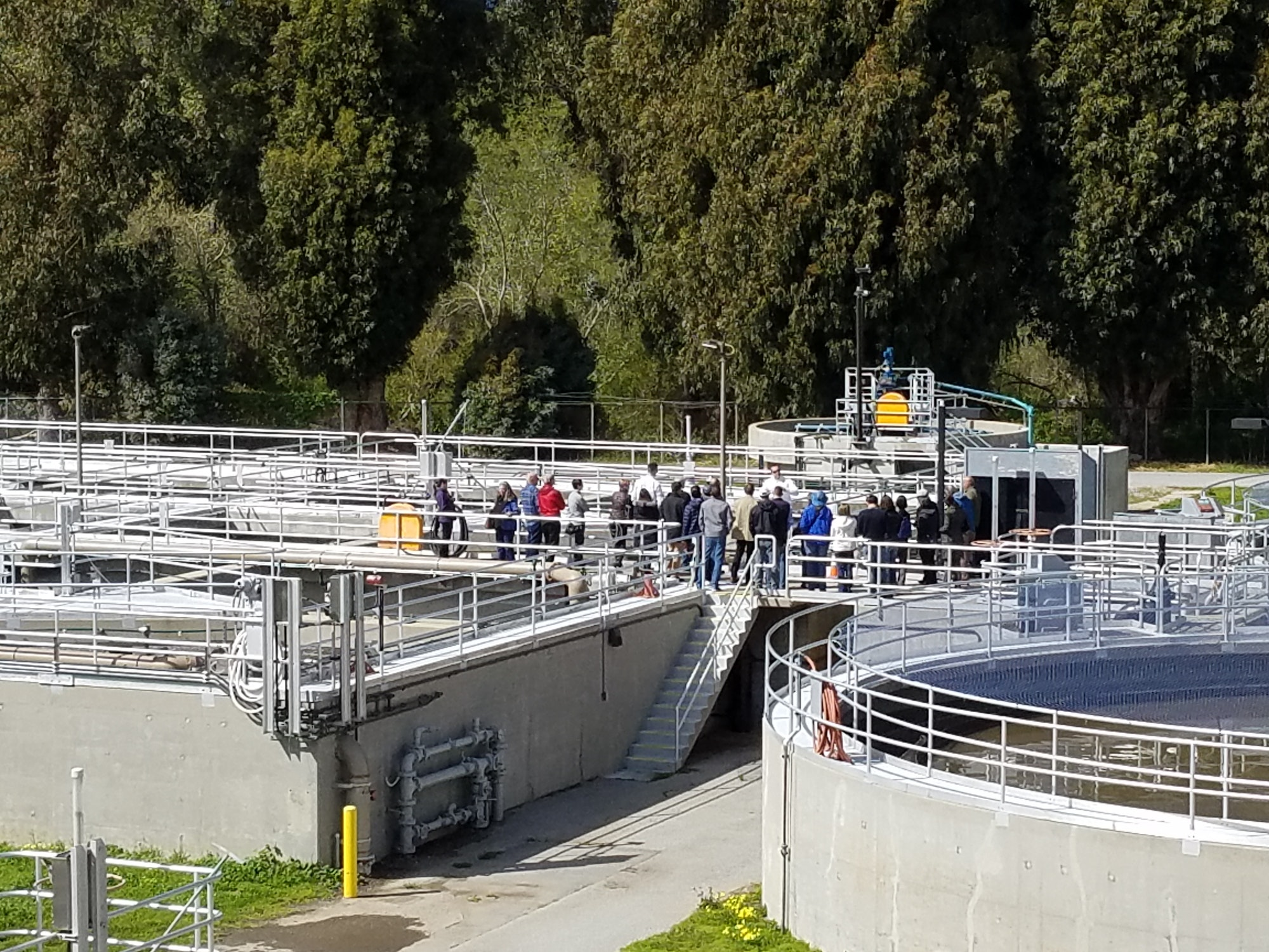 Tour at Carmel Area Wastewater District Plant