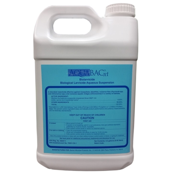 Image of a  container of mosquito control product