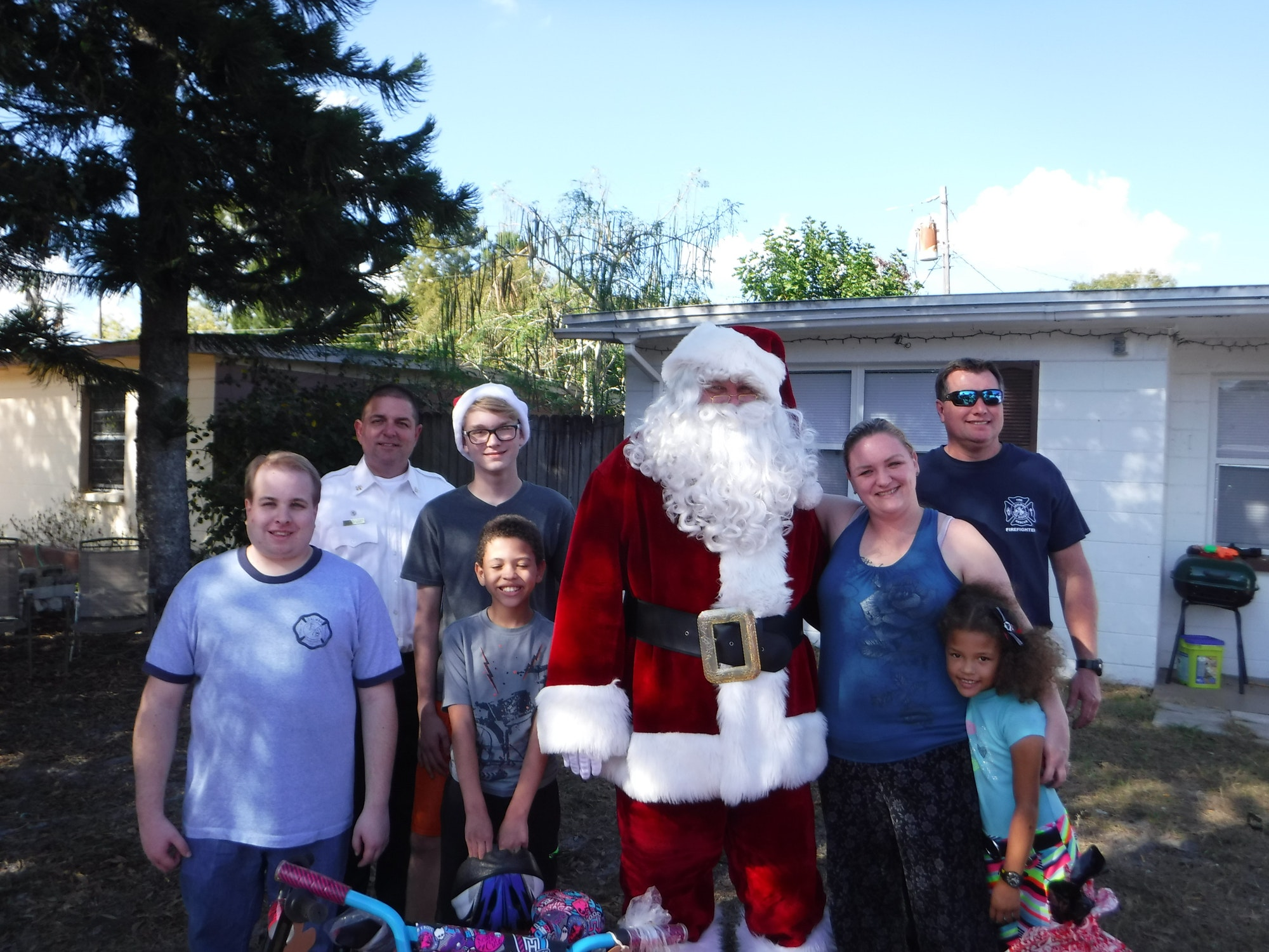 Christmas Picture with Santa and Children