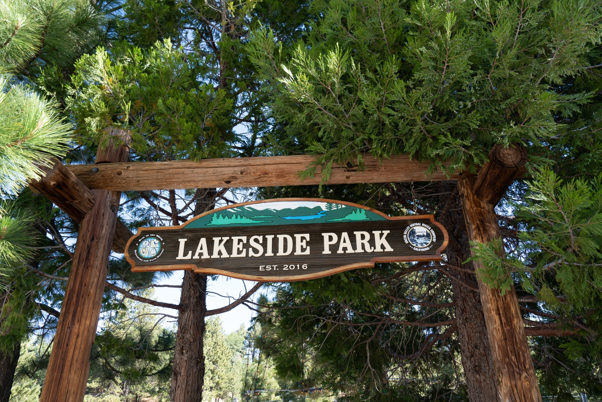 Green Valley Lake Lakeside Park Sign