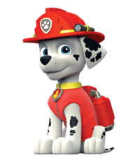 Firefighter Dalmatian with fire gear icon